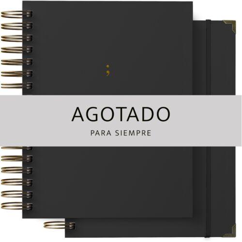 Pack de agenda y cuaderno en color negro