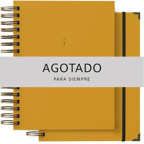 Pack de agenda y cuaderno en color mostaza