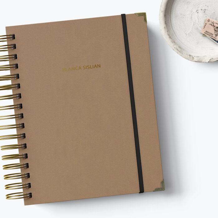 Agenda personalizada con letra mini